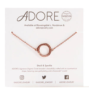Adore by Swarovski Rose Gold Circle Bracelet